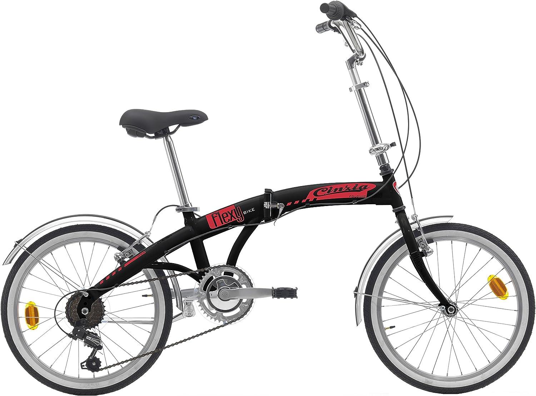 20 Pulgadas Bicicleta plegable 6 velocidades Cinzia Flexy, color ...