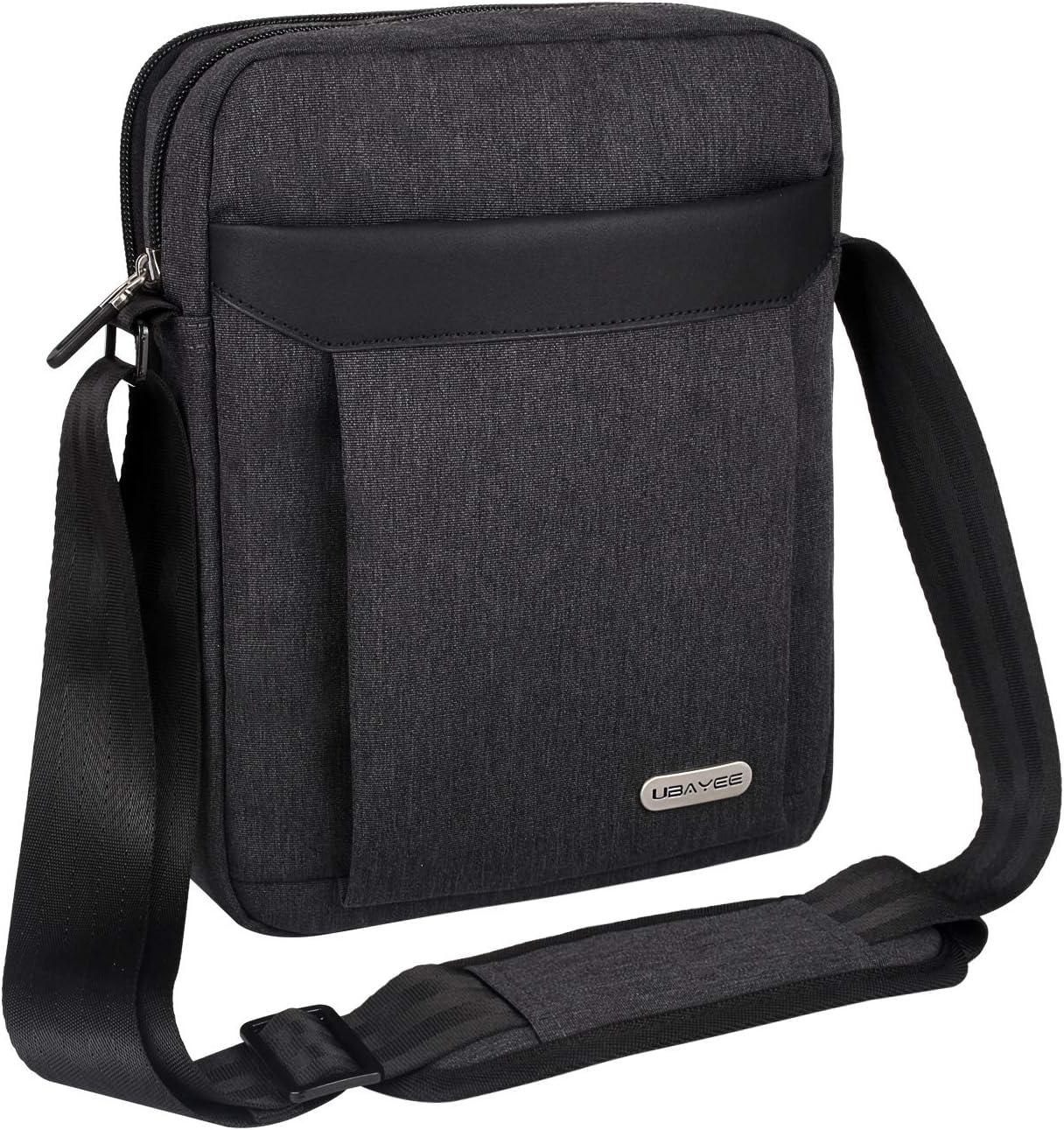 UBAYEE Bolso Hombre Bandolera para iPad y Tablet hasta 11 Pulgadas, Bolsa Hombro de Viaje - Negro