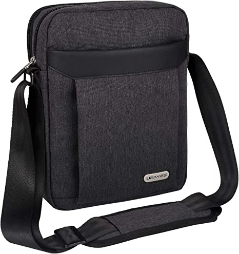 Black Men/'s Shoulder bag Messenger Bag Crossbody Business Handbag Tablet Bag