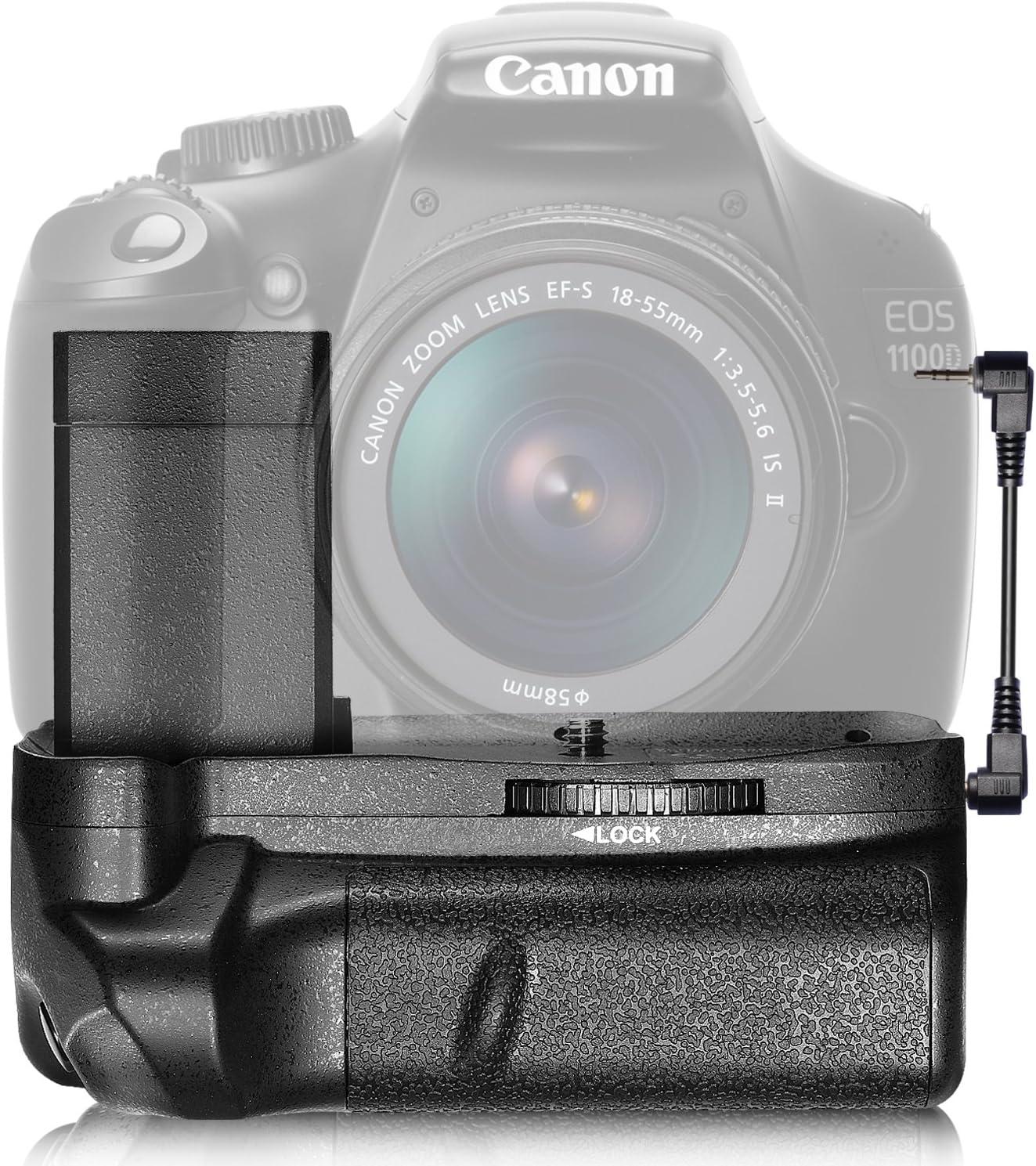 Neewer Grip de batería para Canon EOS Rebel T3 / EOS 1100D: Amazon ...