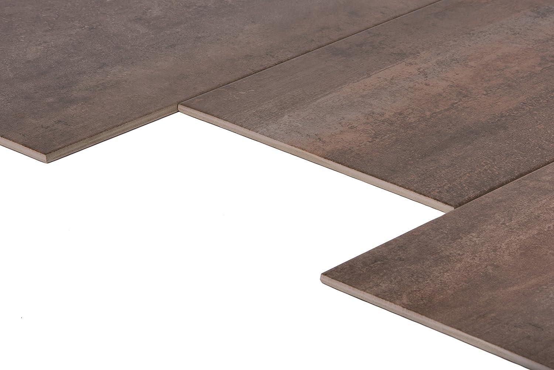 Feinsteinzeug Fliesen mit Metalloptik 1 m/² 60x60 cm Shanon Oxide Bodenfliesen 60x60 cm