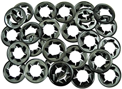 """#007 25 pcs Fits 1//2/"""" Studs /& Bolts GM Push Nut Retainer Clips"""