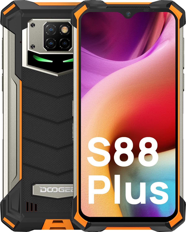 "DOOGEE S88 Plus [2021] Móvil Resistente 10000mAh Batería, 8GB+128GB Moviles Antigolpes, Cámara Triples48MP IP68 IP69K Smartphone Resistente Agua y Golpes, 6.3""FHD, 24W Carga Rápida, LED/NFC, Naranja"