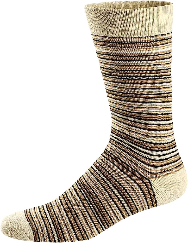 Ueither Chaussettes Fantaisie Homme Coton Peign/é Confortable et Respirante Socks Socquettes