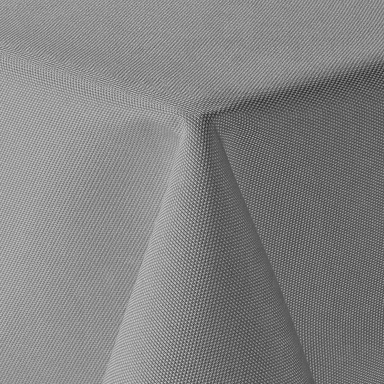 Amp-artshop Tischdecke Leinen Optik Oval 160x220 cm Grau BZW. Anthrazit - Farbe, Form & Größe wählbar mit Lotus Effekt - (O160x220DGrau) B075SCDJDF Tischdecken