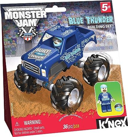 Amazon Knex Monster Jam Blue Thunder Toys Games
