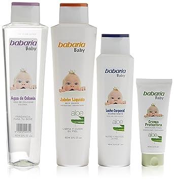 Babaria Baby Jabon 600ml + Colonia 600ml + Leche 400ml + Crema Protectora 100ml