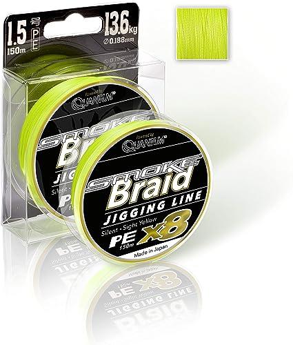 Quantum Smoke Braid Jigging Line Sight Yellow 150m Stärke zur Auswahl