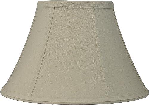 Urbanest Softback Bell Lampshade,Natural Linen, 14-inch Bottom Diameter, 8 1 4-inch Height, Spider