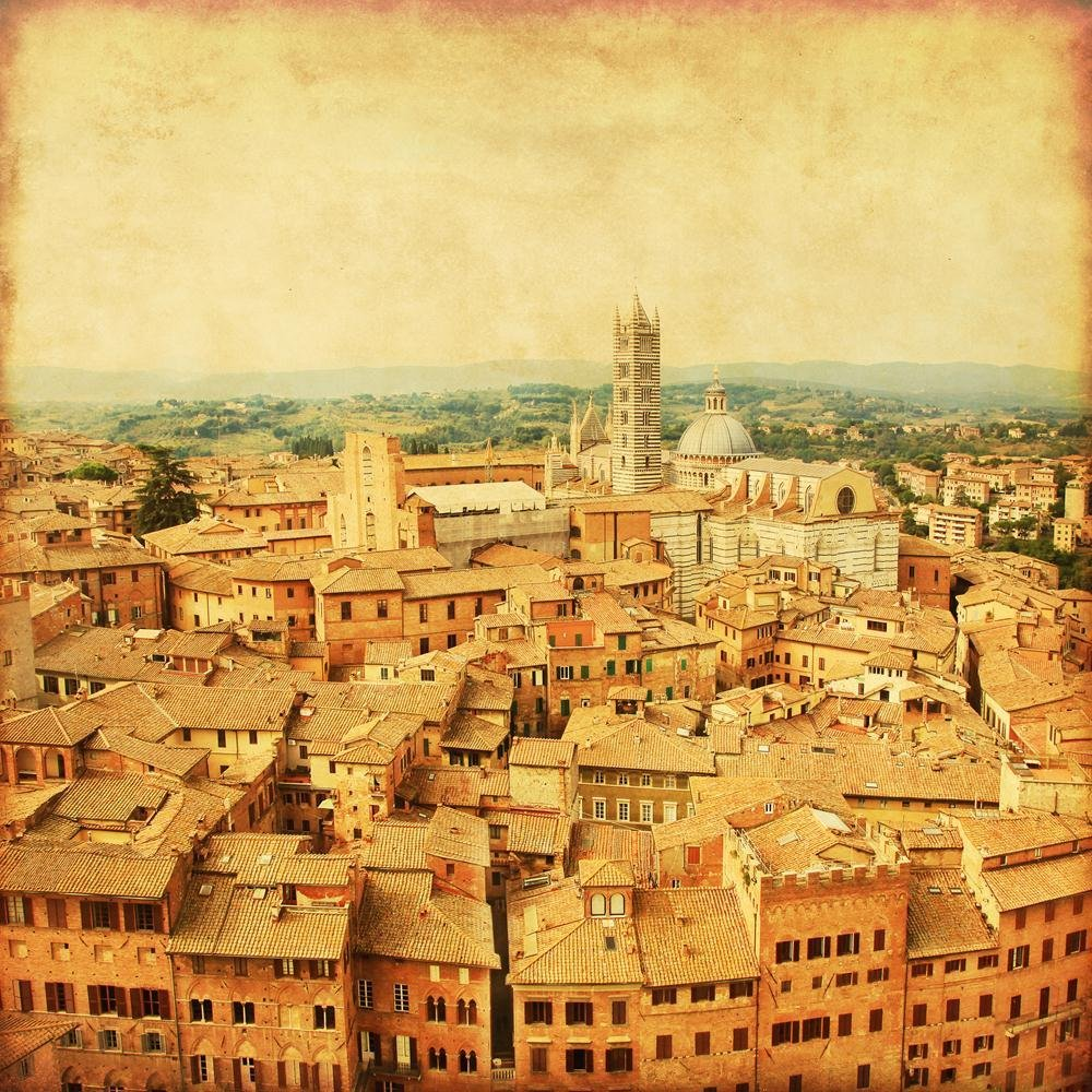 Pitaara Box Old Town of Siena In Tuscany, Italy Unframed Unframed Italy Canvas Painting 37.4 x 37.4inch cb22a7