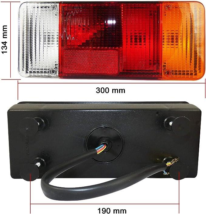A1 2x Rückleuchte Rücklicht Heckleuchte Verkabelung Kabel Uni Neu Auto