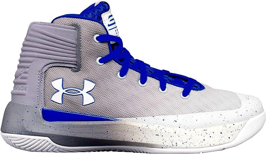 Descodificar Sin sentido tranquilo  Amazon.com: Under Armour PS SC 3Zero - Zapatillas de baloncesto para niño,  Blanco, 2.5: Shoes