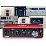 Focusrite Scarlett 2i2 (3ª generación) Interfaz de audio USB más Waves Musicians 2 e iZotope Mobius Filter Bundle