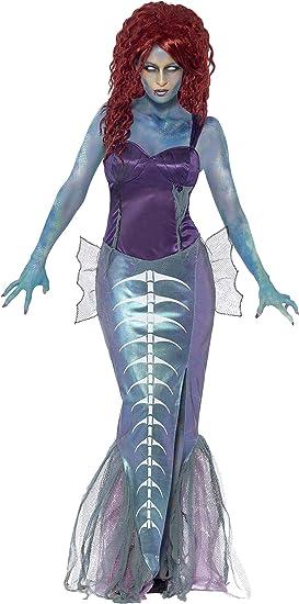 SmiffyS 44359M Disfraz De Sirena Zombi Con Parte De Arriba Y ...