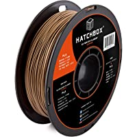 HATCHBOX PLA 3D Printer Filament, Dimensional Accuracy +/- 0.03 mm, 1 kg Spool, 1.75 mm, Copper