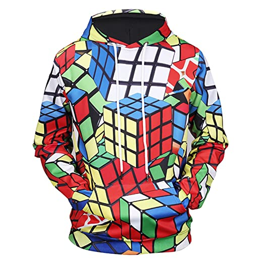 3d Printnew Arrivals Men/women 3d Hoodies Print Rubik Cube Thin 3d Sweatshirts Fashion Cool Hooded Hoodies Hoody Tracksuits Tops Hoodies & Sweatshirts