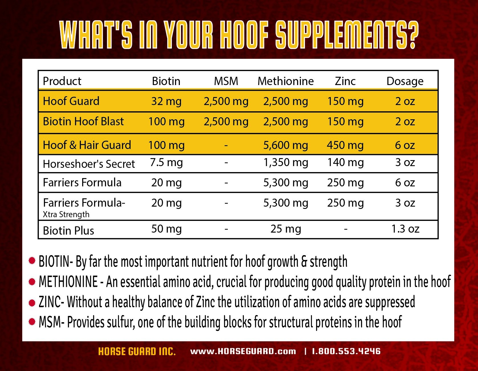Horse Guard HOOF & HAIR GUARD EQUINE HOOF SUPPLEMENT AND EQUINE COAT SUPPLEMENT WITH AMINO ACIDS, BIOTIN, METHIONINE & SOY OIL, 10 lb by Horse Guard (Image #8)