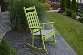 product image for Furniture Barn USA Outdoor Poly Classic Porch Rocker - Tropical Lime