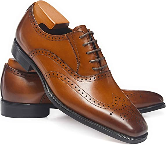 Frasoicus Men's Dress Shoes Classic Leather Business Oxfords Formal Dress Shoes for Men
