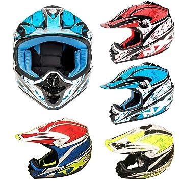 MXT Casco de moto para niños, motocicleta, scooter, motocicleta, scooter, motocicleta