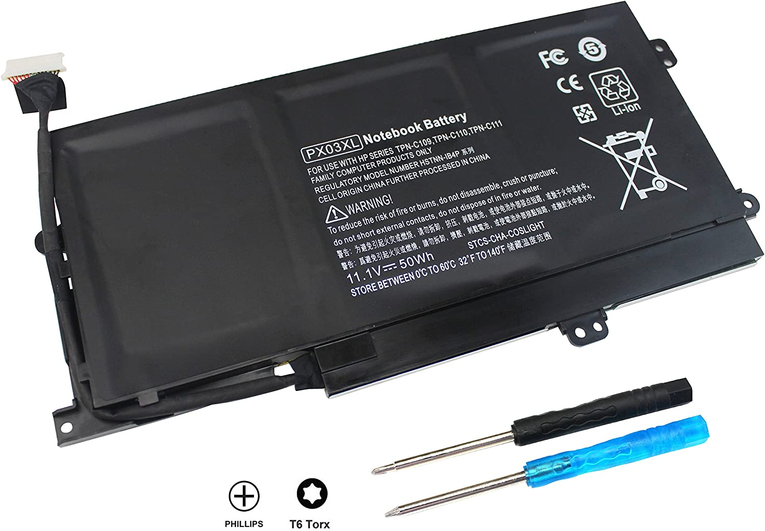 PX03XL Laptop Battery Compatible with HP Envy 14 Touchsmart M6-K K002TX K022DX M6-k125dx M6-k025dx M6-k015dx M6-k012dx M6- k010dx M6-K122dx M6-K054CA 715050-001 Tpn-c109 Tpn-c110 Tpn-c111 HSTNN-LB4P