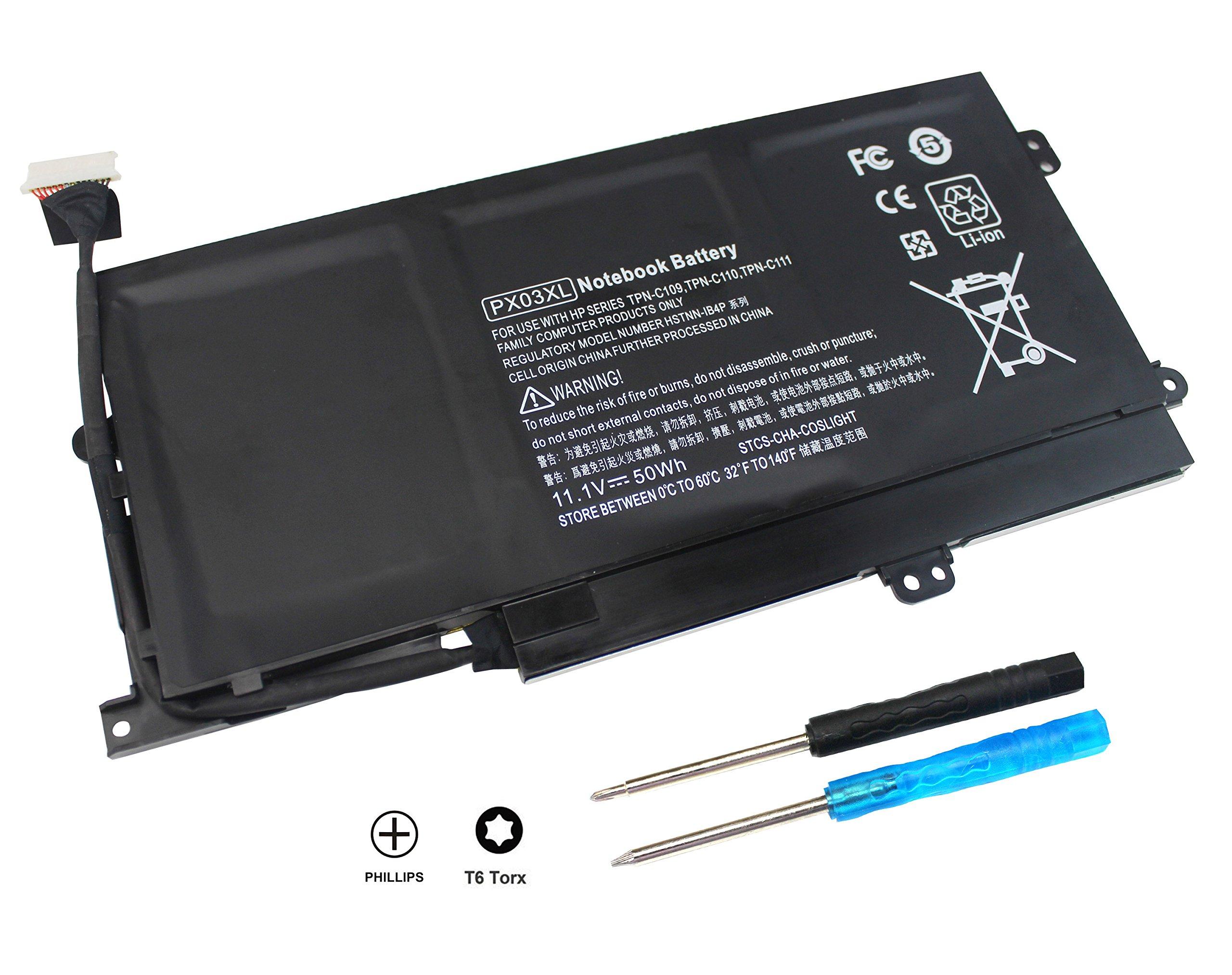 Bateria PX03XL para HP Envy 14 Touchsmart M6 Series M6-K K002TX K022DX M6-k125dx M6-k025dx m6-k010dx M6-k012dx M6-k022dx