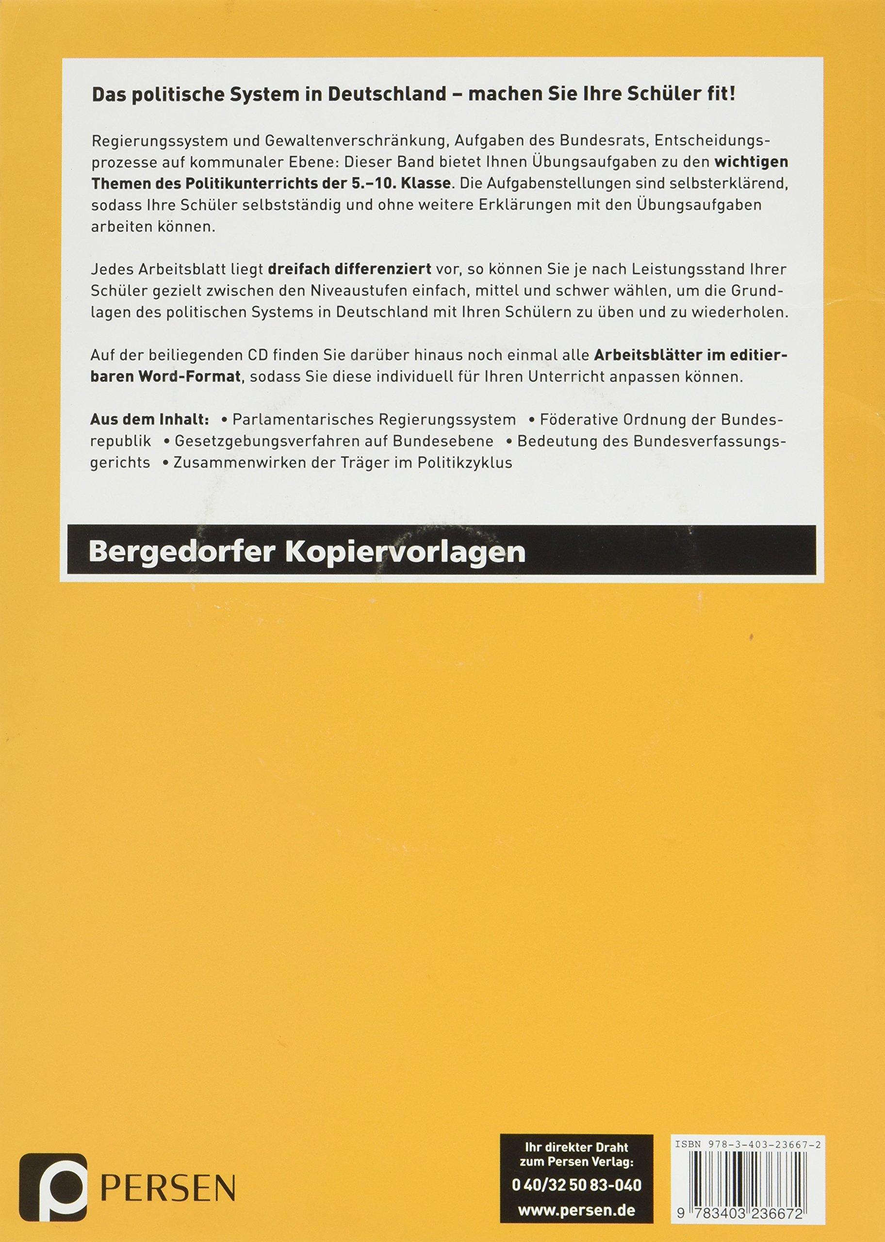Differenziertes Übungsmaterial: Politik: 9783403236672: Amazon.com ...