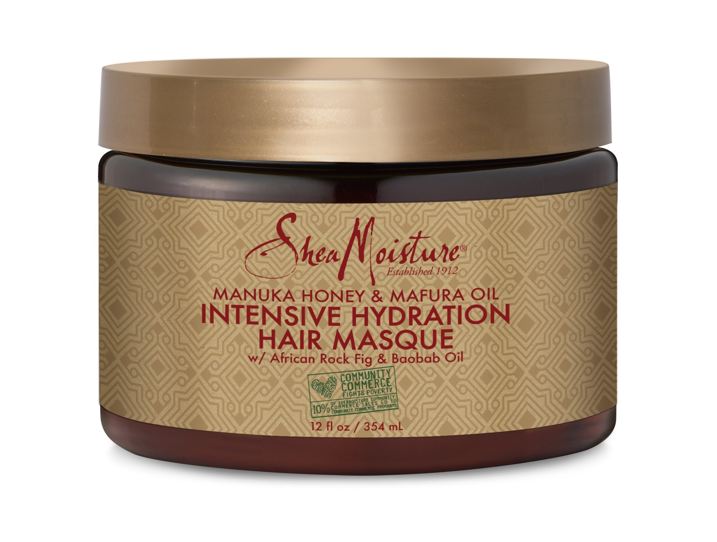 Sheamoisture Manuka Honey &Mafura Oil Intensive Hydration Treatment Masque, 12 Oz by SHEA MOISTURE