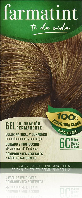 Farmatint Tinte permanente Gel 6C Rubio Oscuro Ceniza: Amazon.es: Salud y cuidado personal