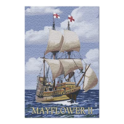 Plimoth Plantation, Massachusetts - Mayflower II (Premium 500 Piece Jigsaw Puzzle for Adults, 13x19, Made in USA!): Toys & Games