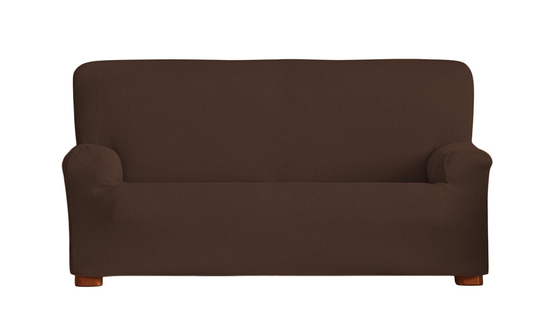 Eysa Ulises - Funda de sofá elástica, 3 plazas, Color marrón