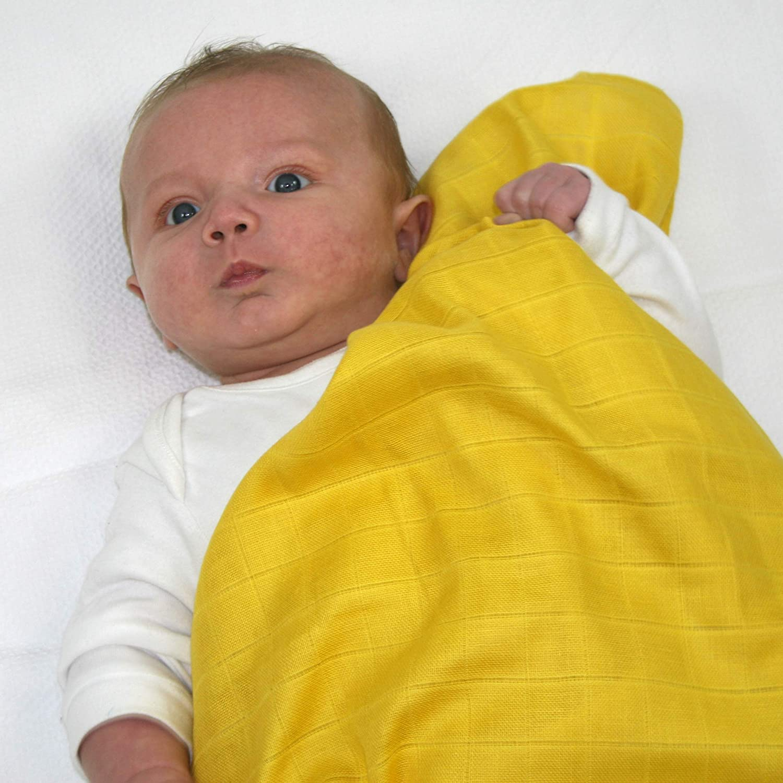 MuslinZ 6pk Premium High Quality Baby Muslin Squares Boys Combo 100/% Cotton 70x70cms