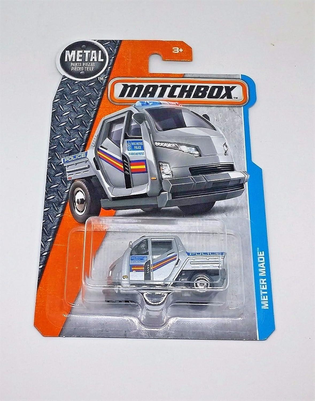 Amazon.com: Matchbox Mattel Mainline Vehicle MBX Adventure City - Meter Made Metro Police (Silver): Toys & Games