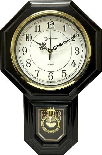 Timekeeper Essex Westminster Chime Pendulum Wall Clock