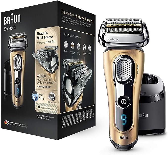Braun Series 9 9299 cc - Afeitadora eléctrica hombre Wet&Dry, afeitadora barba con estación de limpieza y carga Clean&Charge, regalo, oro: Amazon.es: Salud y cuidado personal