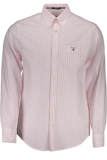 Gant 1701.304040 Camisa con Las Mangas largas Hombre Rosa 635 M ...