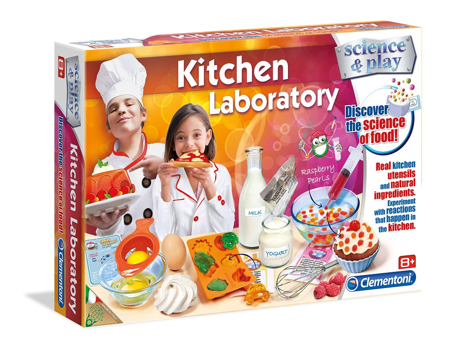 Clementoni Science & Play Kitchen Laboratory Set | Experiment with Reactions That Happen in the Kitchen