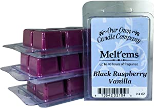Our Own Candle Company Premium Wax Melt, Black Raspberry Vanilla, 6 Cubes, 2.4 oz (4 Pack)