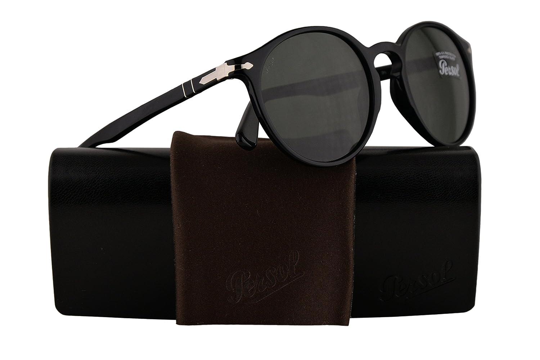 Persol メンズ PO3171S US サイズ: L カラー: ブラック B07DWMWT3G