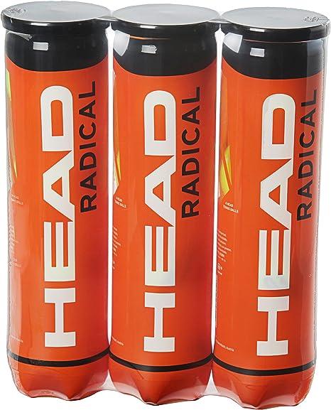 HEAD Radical - Pelota de tenis, color amarillo (Paquete triple ...