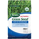 Scotts Turf Builder Grass Seed Sun & Shade Mix: Seeds up to 2,800 sq. ft., 7 lb., Not Available in LA, GU, PR, VI