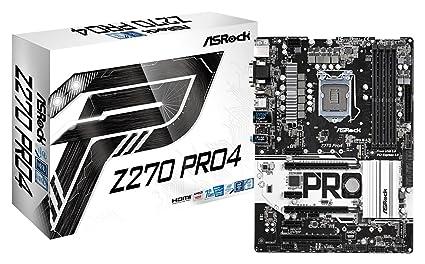 ASRock Z270 PRO4 LGA1151/ Intel Z270/ DDR4/ Quad CrossFireX/ SATA3&USB3 0/  M 2/ A&GbE/ ATX Motherboard
