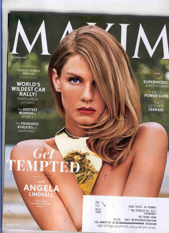 Angela lindvall maxim magazine oct 2014 by james macari hq photo shoot new foto