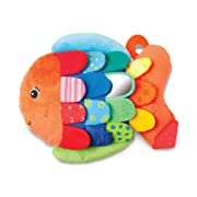 "Melissa & Doug Flip Fish Baby Toy, Developmental Toy, Squeaker Tail, Shatterproof Mirror, Washable Fabrics, 9.75"" H x 13"" W x 4"" L"