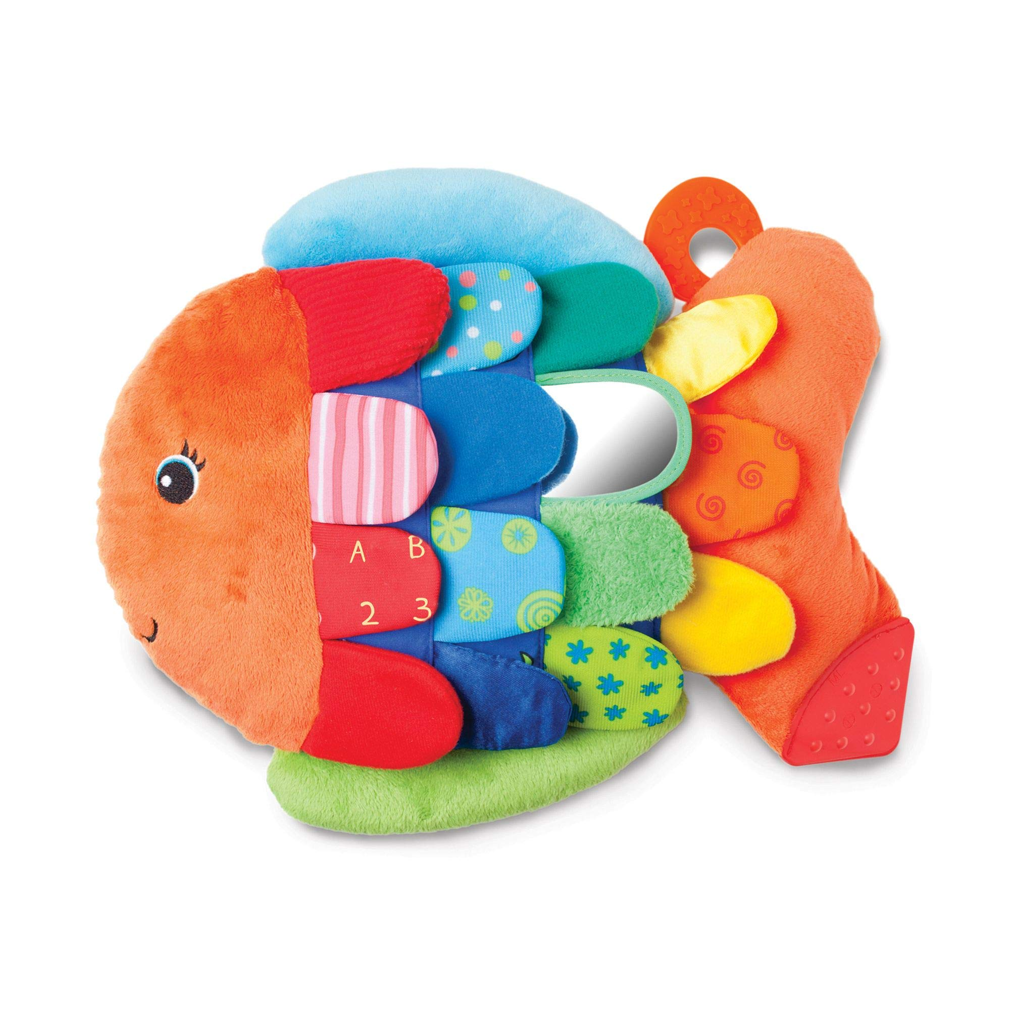 "Melissa & Doug Flip Fish Baby Toy, Developmental Toy, Squeaker Tail, Shatterproof Mirror, Washable Fabrics, 9.75"" H x 13"" W x 4"" L"
