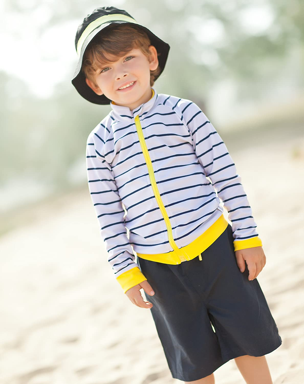 5a04dbfb6a Clothing SwimZip Little Boy Long Sleeve Zipper UV Protective Rash Guard Set  SZ363