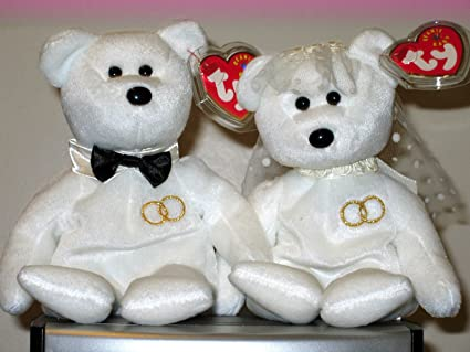 e3e30bf6d6b Image Unavailable. Image not available for. Color  Ty Beanie Babies Set ~  MR.   MRS. the Bride   Groom Wedding Bears