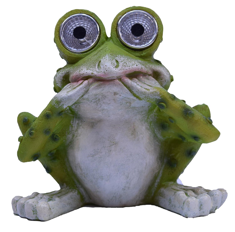 Solar Powered Garden Frog Figurine Sea Creations