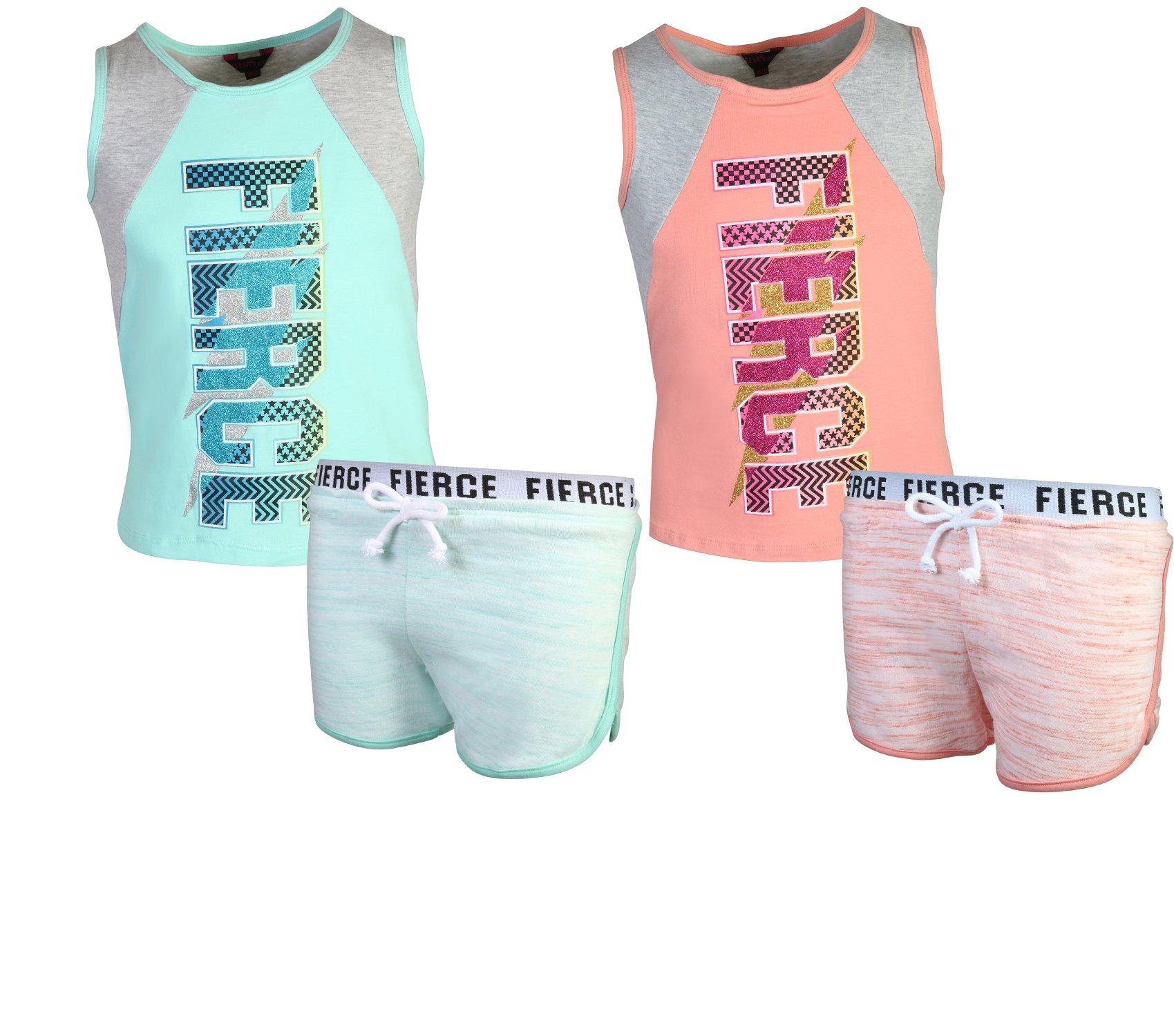 dELiAs Girls 4-Piece Fashion Active Short Sets