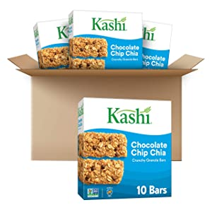 Kashi Crunchy Granola Bars, Chocolate Chip Chia, Chocolate, 28 Ounce
